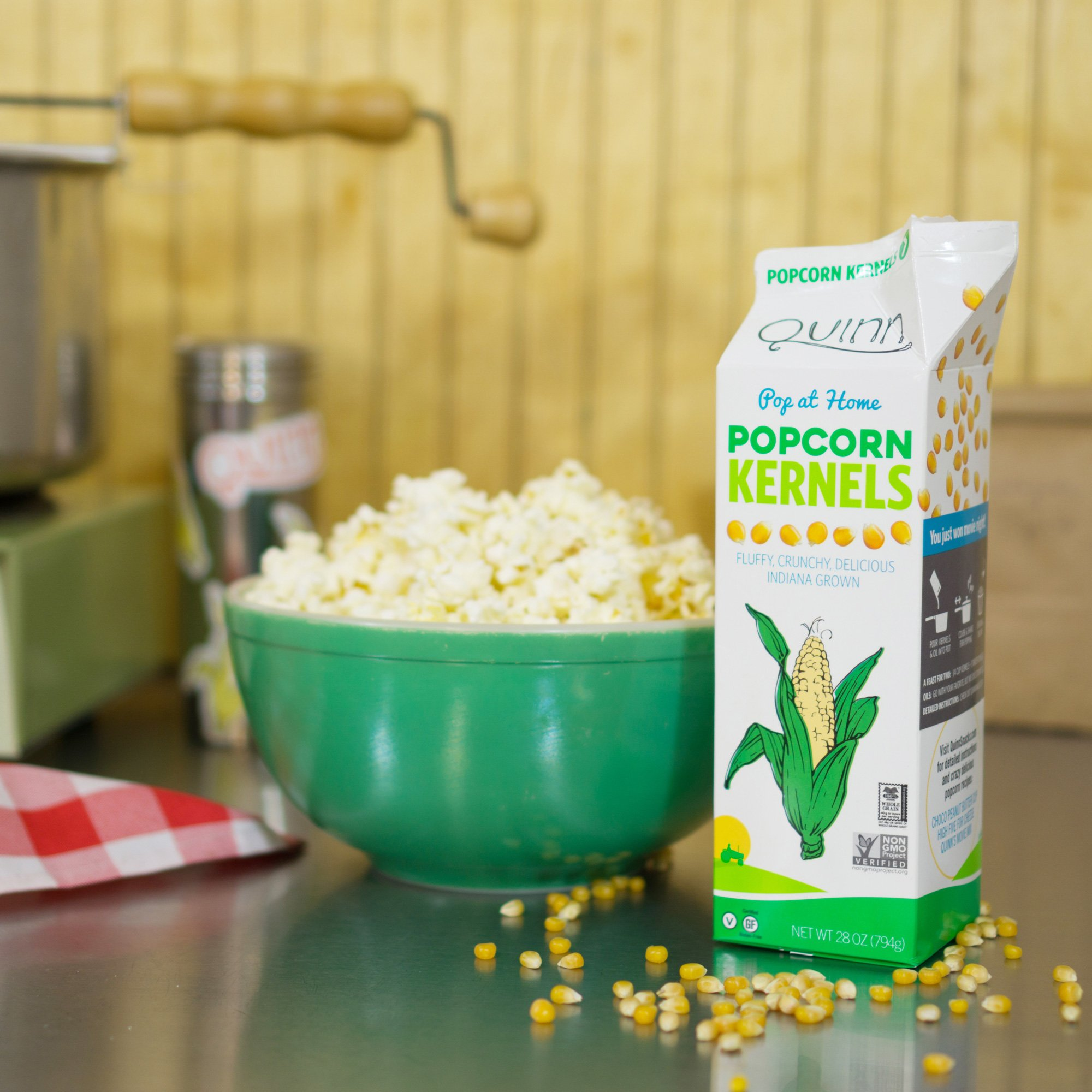 Quinn Snacks Popcorn Kernels - Made with Non-GMO Corn, Unflavored, 28 Ounce (12 Count) by Quinn Snacks (Image #2)