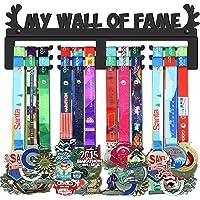 GENOVESE My Wall of Fame Colgador de Medallas, Metal de Acero Negro, Montaje en Pared 50 Medallas