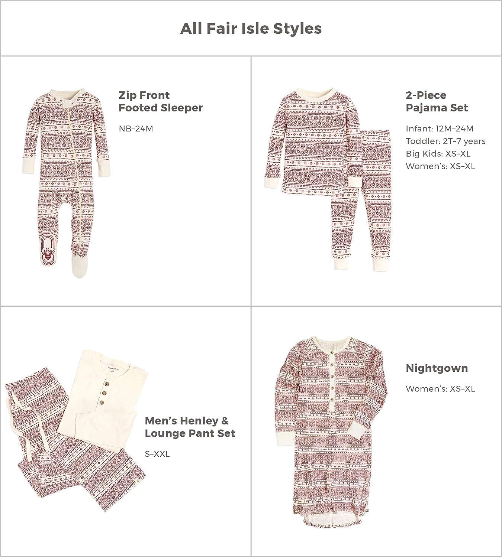 Burts Bees Baby Baby Girls Family Jammies 100/% Organic Cotton Holiday Matching Pajamas