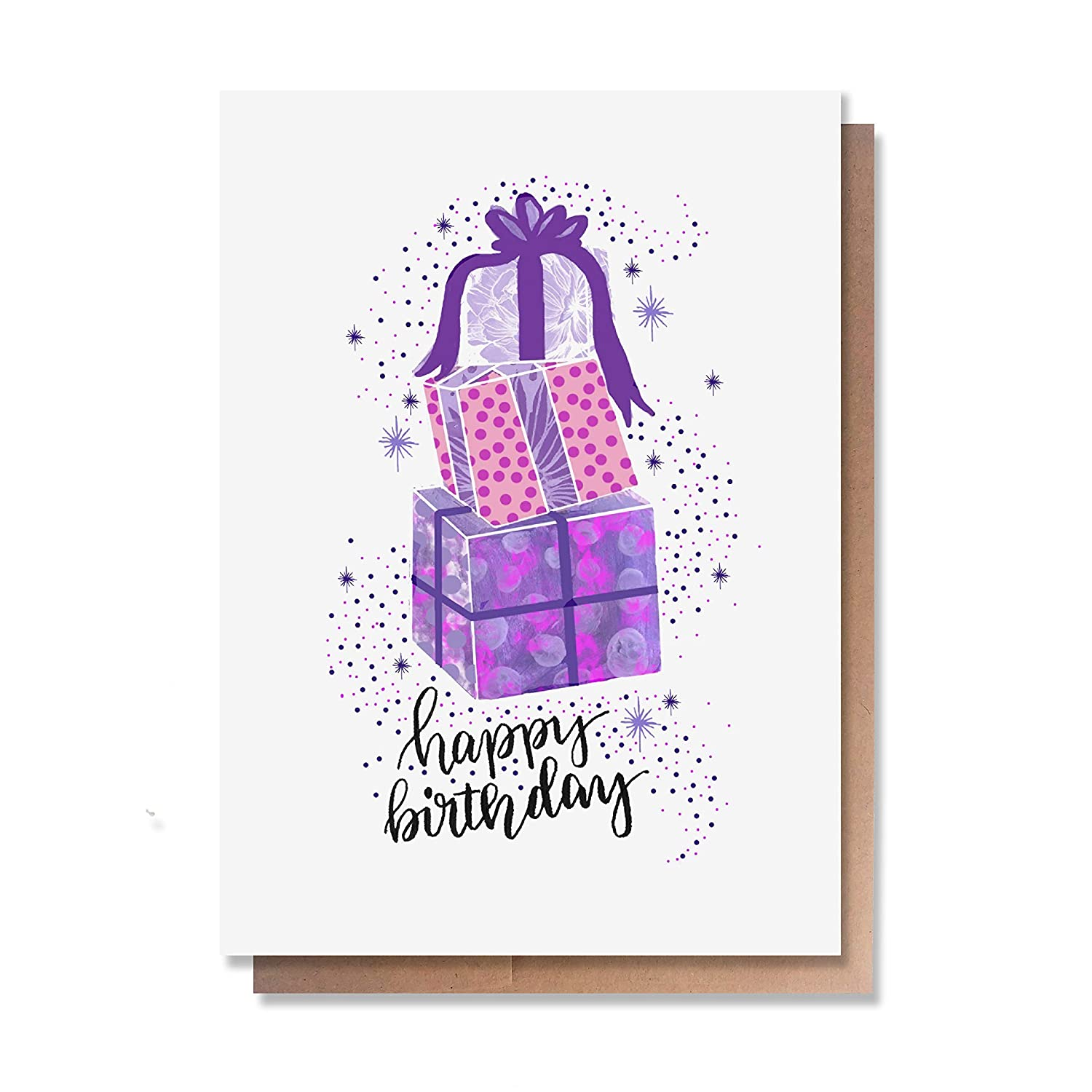 Individual, Blank inside Wunderkid Happy Birthday Presents Magical Birthday Card for girl