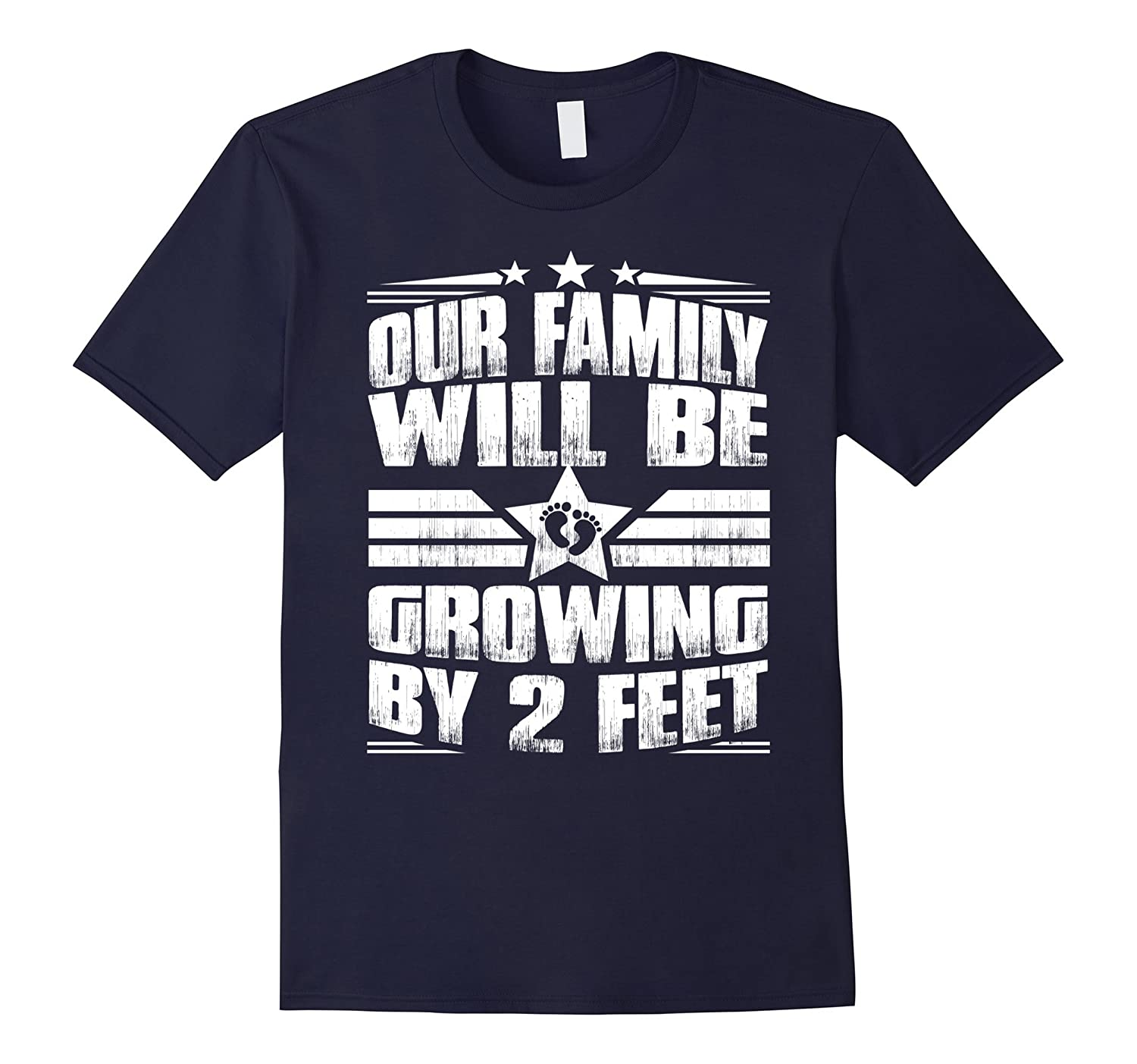 Our Family will be Growing by 2 feet shirt-CD