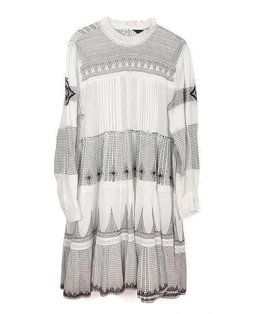 3faf36729e23 Zara Women Mini Dress With Contrasting Embroidery 2903/053 (Medium ...