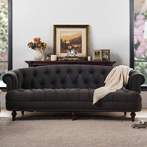 Jennifer Taylor Home La Rosa Collection Chesterfield Style Diamond Tufted Upholstered Velvet Sofa