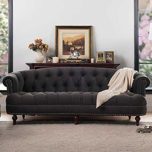Jennifer Taylor Home La Rosa Collection Chesterfield Style Diamond Tufted Upholstered Velvet Sofa
