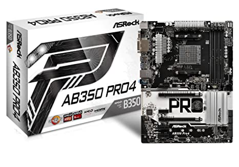 ASRock AB350 Pro4 - Placa Base (Socket AM4, 4 x DDR4, Máx. 64GB ...