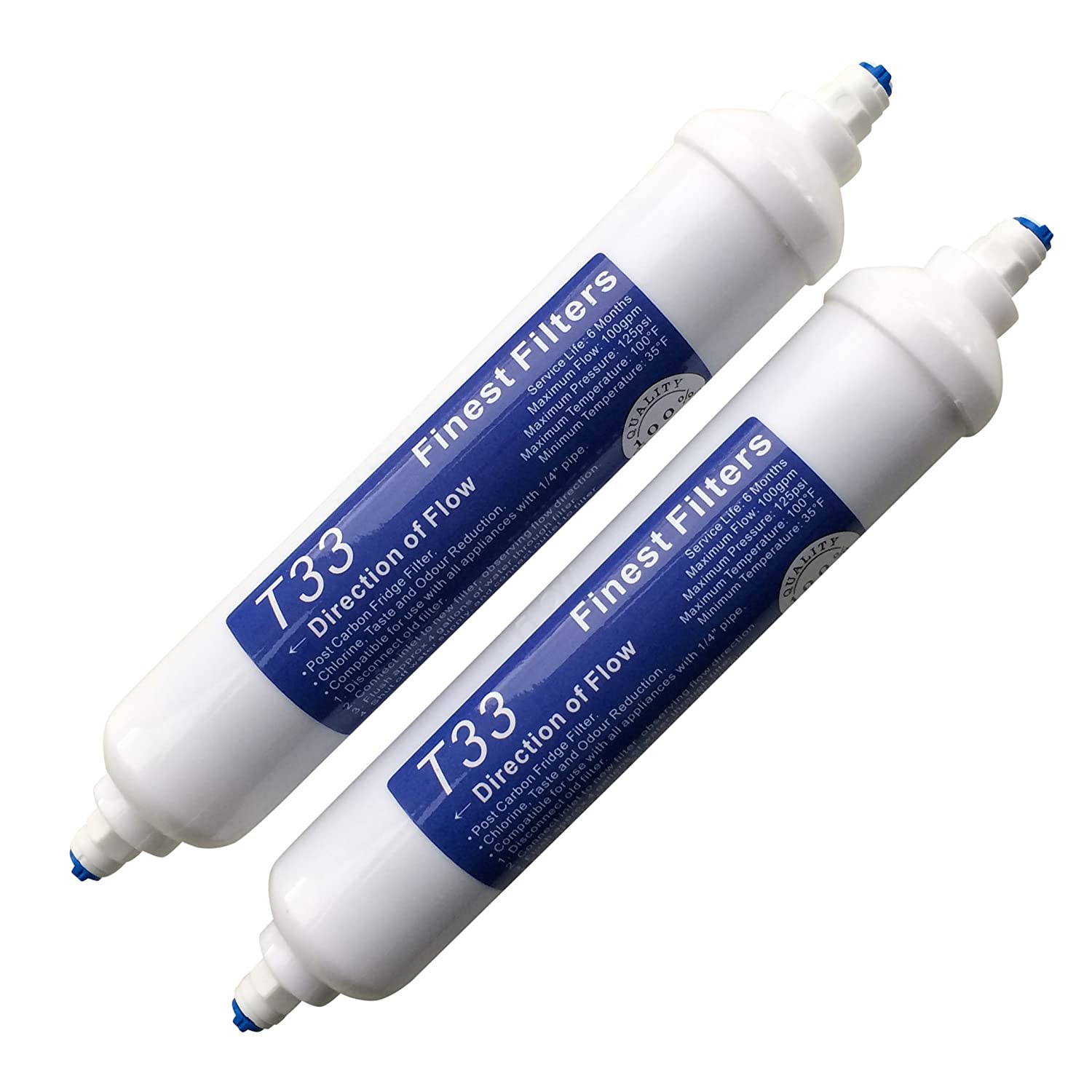 2 x In Line Fridge Water Filters Compatible with Samsung, Daewoo, LG etc Finest-Filters