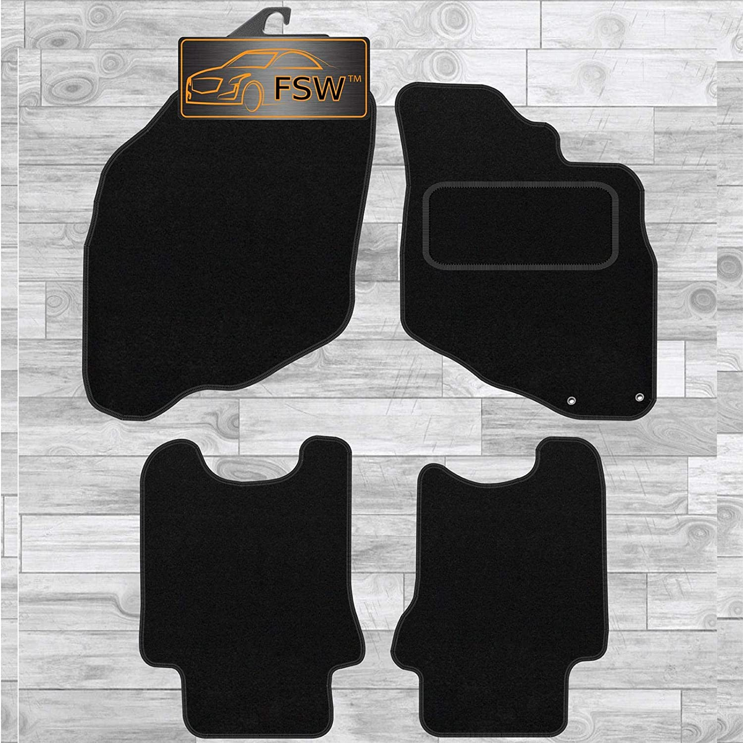 FSW Jazz 2002-2008 With Holes Fully Tailored Classic Carpet Car Floor Mats Black