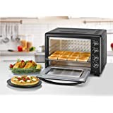 Black+Decker Double Glass Toaster Oven with Rotisserie 55 litres, TRO55RDG-B5, Black, 2 Year Brand Warranty