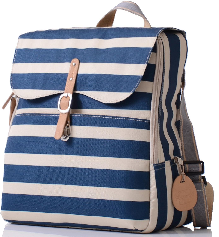 22ec1bc68329c Amazon.com : PacaPod Hastings Navy Stripe Lite Designer Baby Diaper ...