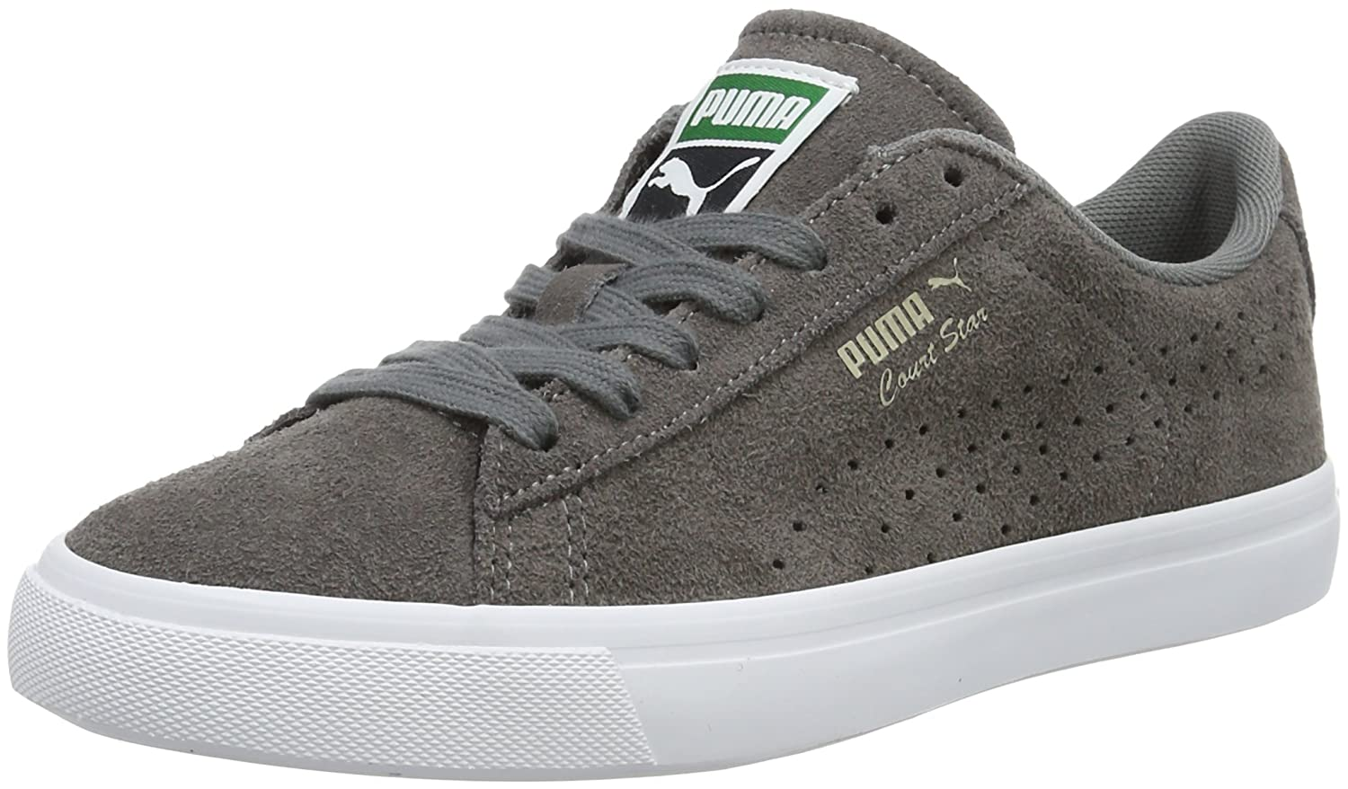 Puma Unisex-Erwachsene Court Star VULC Suede Low-Top  44 EU|Grau (Steel Gray-puma White 04)