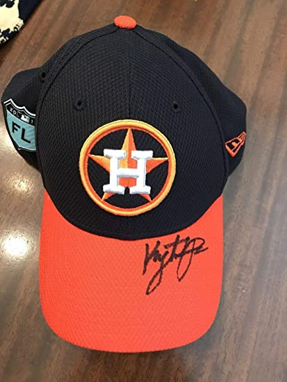 d5b0c3421c9a62 Image Unavailable. Image not available for. Color: Kyle Tucker signed 2017  SPRING TRAINING hat - AUTOGRAPH - Houston ...