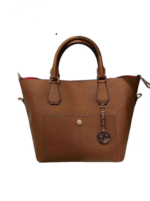 Michael Kors Greenwich Large Saffiano Leather Grab Bag Navy (Black):  Handbags: Amazon.com