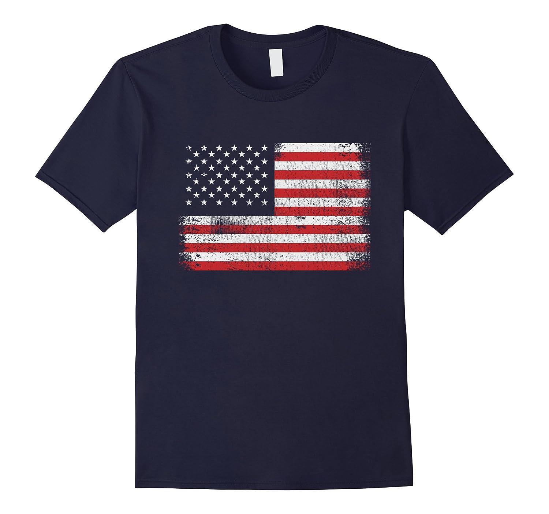 American Flag USA T-Shirt , Memorial Day - 4th of July Shirt-Art