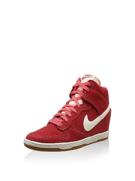 low priced 9ca80 83f05 Nike Dunk Sky High Womens 601 (406), Rosso (Rosso), 40,5  Amazon.it  Scarpe  e borse