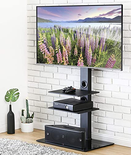 Amazon Com Fitueyes Universal Tv Stand With Swivel Mount Height