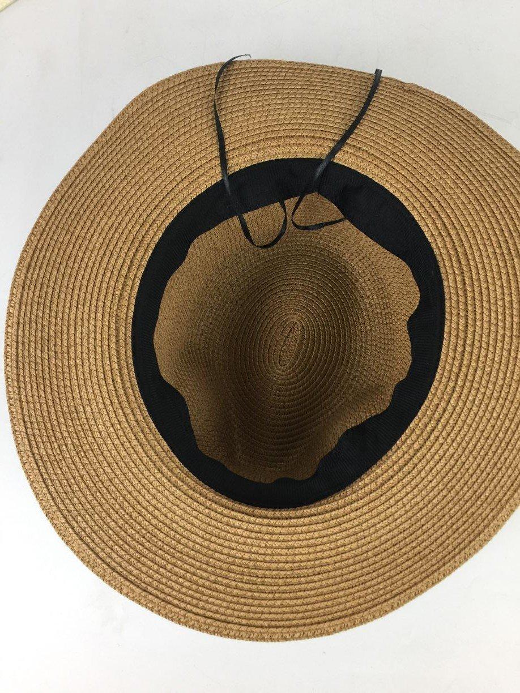 9c62d470cf803 Lanzom Women Wide Brim Straw Panama Roll up Hat Fedora Beach Sun Hat UPF50+