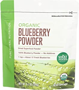 Whole Foods Market, Powder Blueberry Organic, 4.2 Ounce