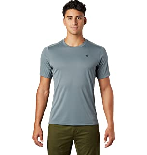 Mountain Hardwear Mens Logo T Shirt Tee Top Grey Sports Outdoors Lightweight