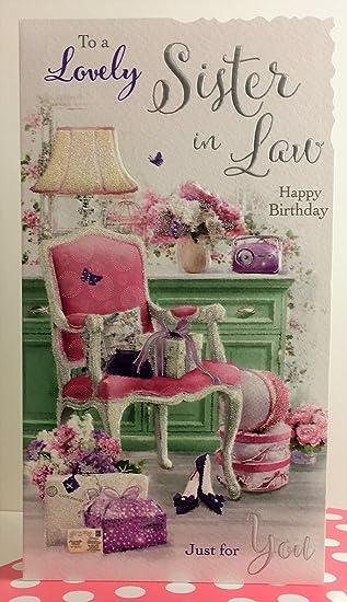 Jonny Javelin Lovely Sister In Law Birthday Wishes Card Amazon