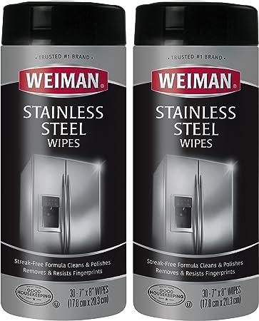 Amazon.com: Weiman Toallitas de acero inoxidable – Elimina ...