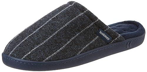 Isotoner Pinstripe Woven Mule Slippers, Zapatillas de Estar por casa para Hombre: Amazon.es: Zapatos y complementos