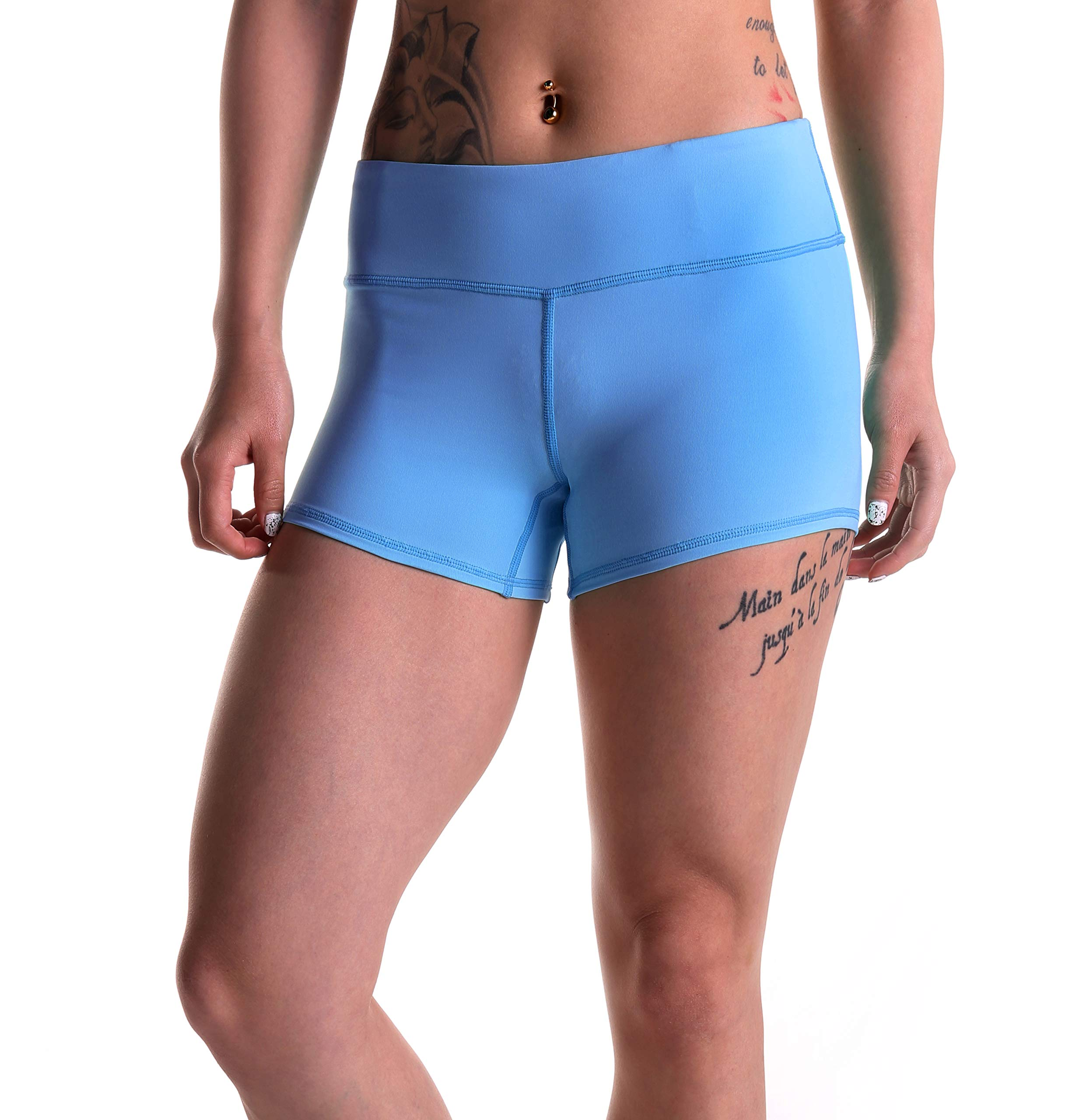 Tough Mode Womens 3'' Compression WOD Athletic Shorts Yoga Volleyball Crossfit Running MMA Active Booty Black Red Blue Green... by Tough Mode