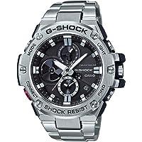 """Casio""""G-Shock"""" reloj de vestir de cuarzo, resina y acero inoxidable, color: tono plateado (modelo: GST-B100D-1ACR)"""