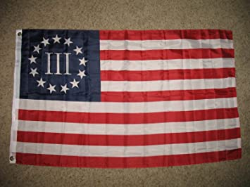 Revolución Americana Bandera de Betsy Ross Nyberg III 3 por ciento 3 pies x