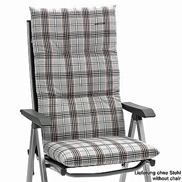 2 x Auflagen für Hochlehner Sessel Gartenstuhl Klappstuhl 120 cm lang 8 cm dick