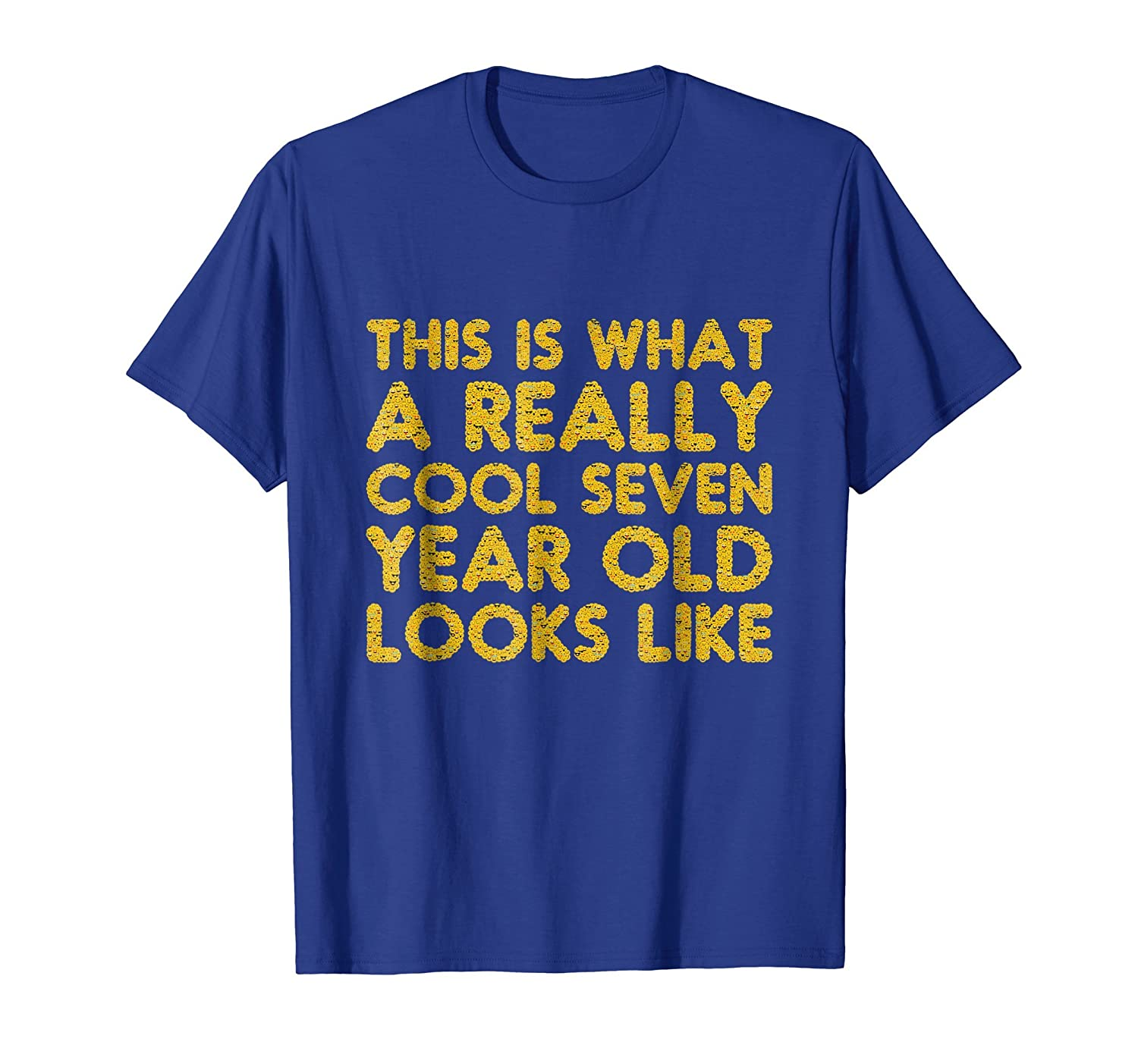 7th Birthday Shirt Gift Cool Age Seven 7 Year Old Boy Girl Prm Paramatee