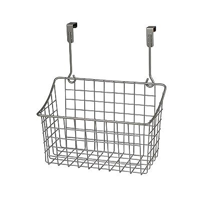 amazon com spectrum diversified grid storage basket over the rh amazon com over the cabinet basket target interdesign axis over-the-cabinet x3 basket