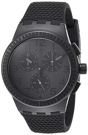 Swatch Reloj Cronógrafo para Hombre de Cuarzo con Correa en Silicona SUSB104: Amazon.es: Relojes
