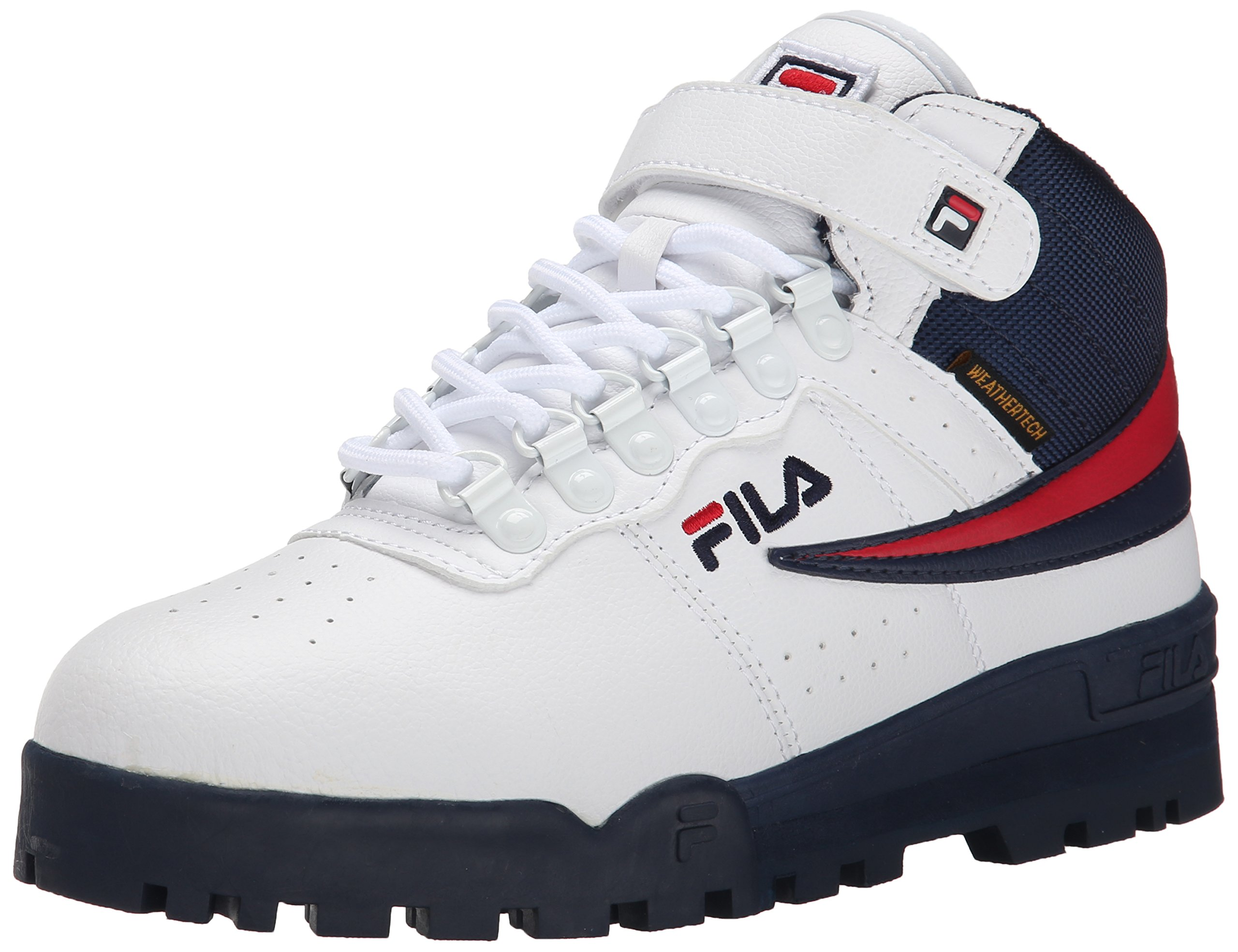Fila Men's F-13 Weather Tech Hiking Boot, White Navy Red, 11 M US