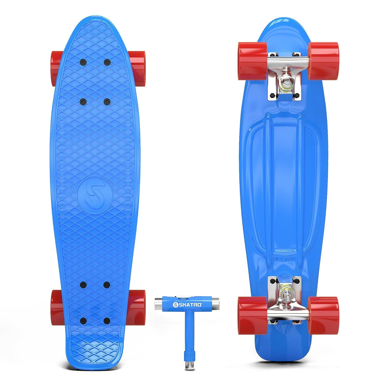 Tavola completa in plastica di 22 pollici in stile Retro Skatro Skateboard Mini Cruiser