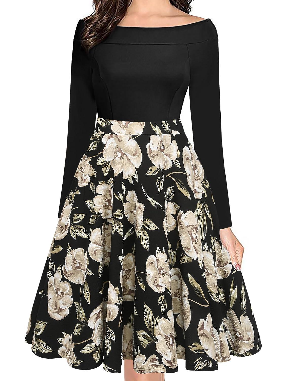 oxiuly DRESS レディース US サイズ: M カラー: ブラック B0775SVN67