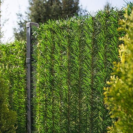 FairyTrees Sichtschutz Garten Zaunblende, GreenFences Hecke, Kiefernoptik Hellgrün, PVC, Höhe 150cm, 1m