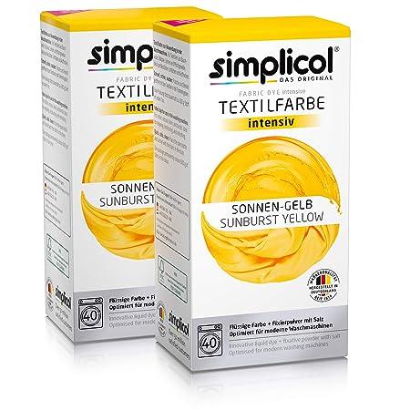 Simplicol Kit de Tinte Textile Dye Intensive Amarillo: Colorante ...