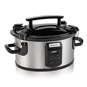 Crockpot SCCPVS600ECP-S Crock-Pot Cook and Carry Portable Slow Cooker with Digital Control, 6 Quart, Silver