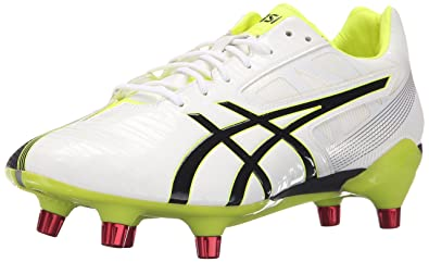 439cb5c14898 ASICS Men s GEL-Lethal Speed White Black Flash Yellow Rugby Shoe - 7