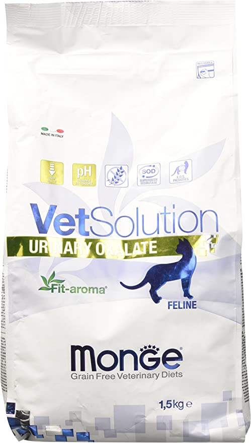 Monge Veterinary Solution Gato Urinary Oxalate kg 1,5 Comida para Gatos, Multicolor, única: Amazon.es: Productos para mascotas