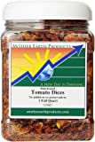 Mother Earth Products Dried Tomato Dices/Flakes, Quart Jar
