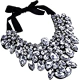 Holylove 5 Colors Gorgeous Statement Necklace Earrings Costume Jewelry Set with Gift Box
