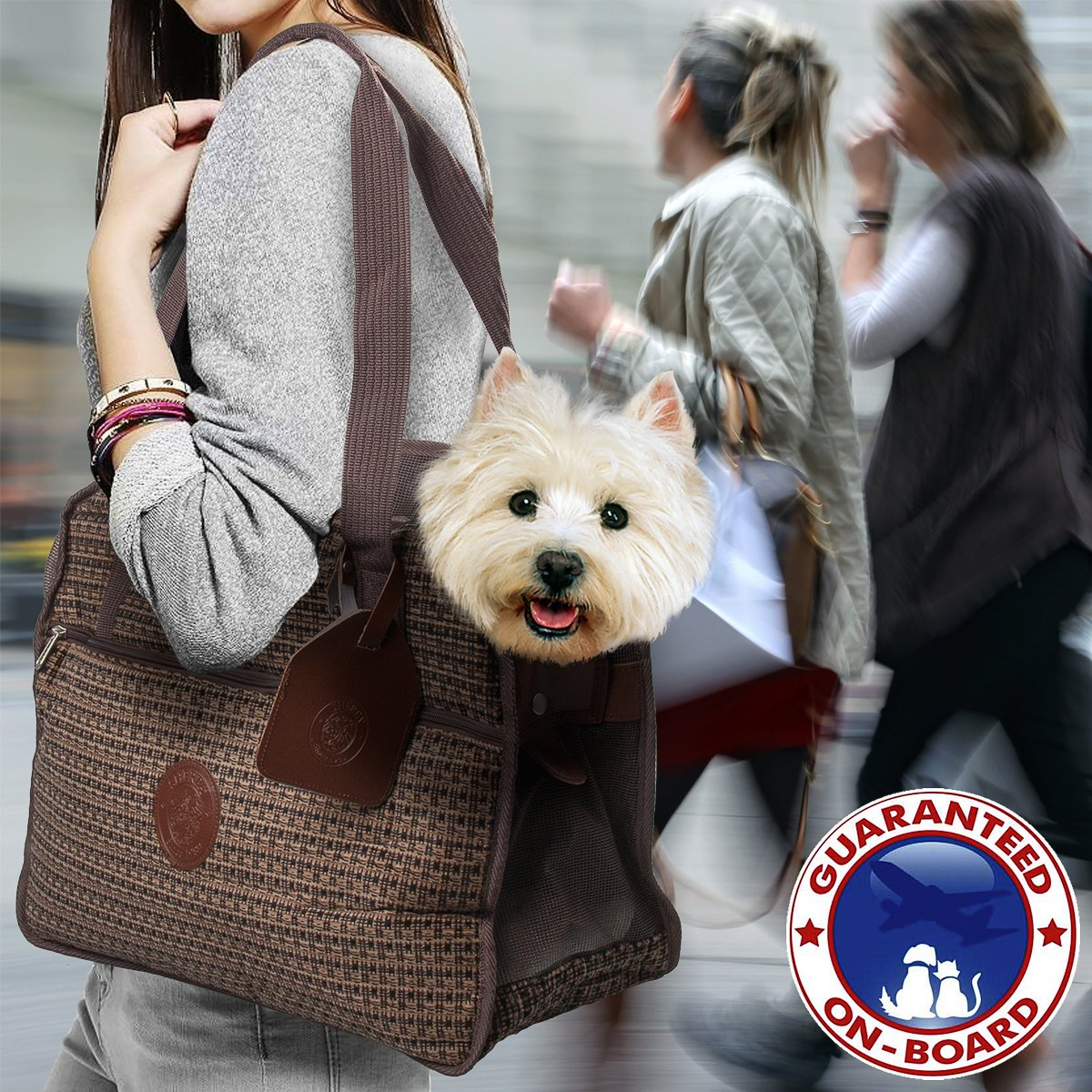 designer purse for carrying a small dog