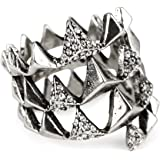 House of Harlow 1960 Sterling Silver-Plated Pyramid Wrap Ring