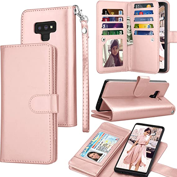 57ff52616e1f Tekcoo Comptible for Galaxy Note 9 Case/Samsung Note 9 Wallet Case, Luxury  PU Leather ID Credit Card Slots Holder Carrying Folio Flip Cover ...