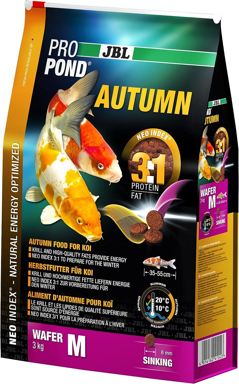 JBL Comida otoñal para Koi, pienso Sumergible, alimento de Temporada, ProPond Autumn, Talla M, 3 kg