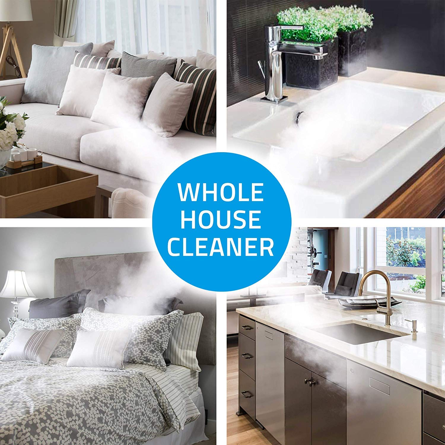 PurSteam World's Best Steamers Chemical-Free Cleaning. Pressurized Cleaner with 9-Piece Accessory Set Purpose and Multi-Surface All Natural, Anthracite by PurSteam World's Best Steamers