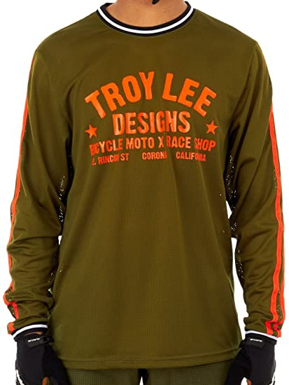8f4cdb6d9 Troy Lee Designs Super Retro Men s BMX Bike Jersey - Army Green Small