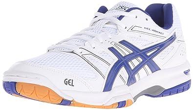 Asics Men's Gel-Rocket 7 Indoor Court Shoe, White/Asics Blue/Titanium