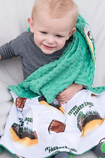 best service e1a70 7c482 Amazon.com  Green Bay Packers Girls and Boys Minky Baby Blanket Future  Packer Backer Lambeau Field Baby Shower Gift Unisex Swaddle  Baby